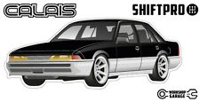 VL Calais Holden Commodore Sticker - Black with Enkei Rims - ShiftPro Brand