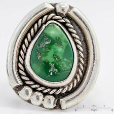 Antique Vintage 1940 Sterling Silver Native Navajo Royston Turquoise Ring Sz 8.5