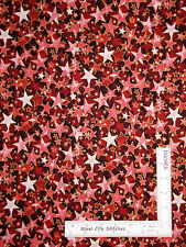 Christmas Gold Trimmed Stars Red Tonal Cotton Fabric RJR 2712 Holiday - Yard