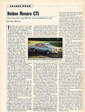 1967 1968 Holden Monaro GTS Original Car Review Print Article J636