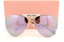 Brand New Miu Miu Sunglasses MU 53P 53PS ZVN2E2 Gold/Purple Silver Mirror Women