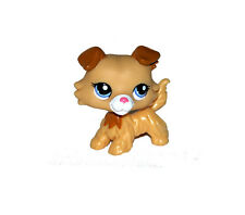Littlest Pet Shop Animal Brown Ears Yellow Puppy Dog Loose Figure Child Toy