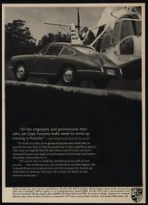 1967 PORSCHE 911 Sports Car - Helicopter VINTAGE AD
