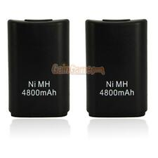 2pcs Wireless 4800 mAh Rechargeable Remote Controller Battery Pack for Xbox 360