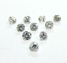 10 Stones 2mm WHITE BRILLIANT CUT ROUND POLISHED DIAMONDS