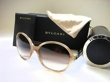 AUTHENTIC BVLGARI BV8108B 523513 STRIPED HONEY/BROWN GRADIENT 57mm Sunglasses