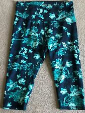 OLD NAVY ACTIVE GO-DRY Printed Athletic Capris~Womens Size XXL~SPRING!