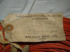 Warbird WWII Gauge WW2 Aircraft Power & Lighting Instrument Cable Wire per foot