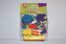 New 240 pc. Church Christian Religious Kids Art Craft Foam Stickers FREE S/H BCR