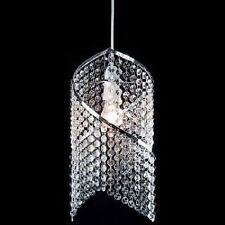 Chandlier ~ pendentif ~ clair perles acrylique spirale droplet ceiling abat-jour chrome
