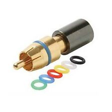 Eagle RCA Compression Connector RG-59 6 Color Bands Gold Plate Male Permaseal II