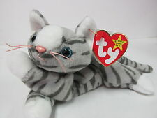 "Ty Beanie Baby ""Prance"" Silver Tabby Feline, Kitty Cat  NEW PRISTINE / Mint Tags"