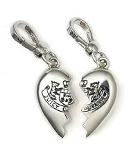 NEW Juicy Couture Charm 2 pc BFF Crest Best Friends