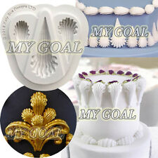 Royal Icing SHELLS BORDER Silicone Fondant Mould Cake Decor Sugar Gum Paste Mold