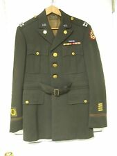 WWII US ARMY OFFICER'S UNIFORM TUNIC & PANTS CAPTAIN'S BARS RIBBONS PATCHES NAME