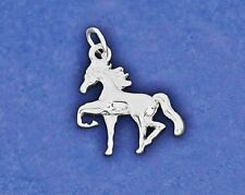 Horse Charm Pendant Trotting Prancing Pony Sterling Silver Pl Girly Girl Ladies
