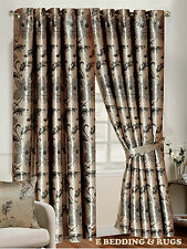 Fully Lined Pencil pleat Luxury Jacquard Ready-Made Rosa Heavy Curtains All Size