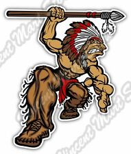 "Indian Chief Head Apache Angry Native Car Bumper Vinyl Sticker Decal 4""X5"""