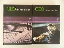2 Bände GEO Themenlexikon Musik A-Z 26 27 Komponisten Interpreten Werke