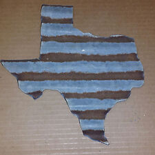 FREE SHIPPING Rusted Metal Corrugated Texas Silhouette Sign  Set of 6