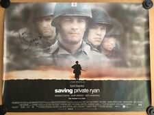 Saving Private Ryan - Original Cinema Quad Poster - Signed By Tom Sizemore 1998