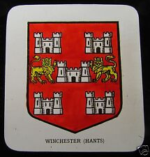 Glass Magic lantern slide THE COAT OF ARMS OF WINCHESTER C1890