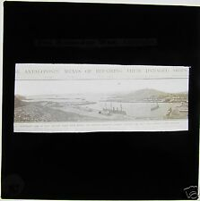 Glass Magic lantern slide RUSSO JAPANESE WAR - PANORAMIC VIEW OF PORT ARTHUR