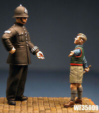 1/35th wwii british civil policier et boy wee friends WF35009 non peinte kit