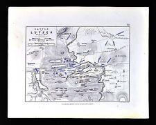 1855 Johnston Military Map - Napoleon - Battle of Lutzen 1813 - Germany France