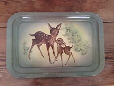 Vintage Kitsch 1950s 1960s Bambi/ Fawn Metal Serving Tray