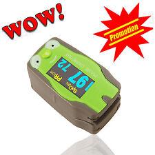 Frog Shape Kids Pediatric Fingertip Pulse Oximeter Health Monitor SpO2 Checker