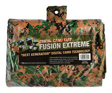"WOODLAND GREEN Digital CAMO Medium Duty Poly Tarp 7' 4"" X 9' 6"" CAMOUFLAGE"