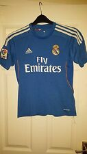 Homme football shirt-real madrid fc-adidas-away 2013-2014 - bleu & blanc