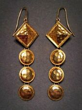 VINTAGE YVES SAINT LAURENT COUTURE GOLD PLATED EARRINGS