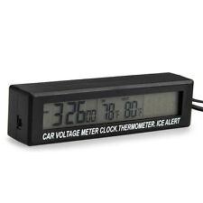 Auto LCD Digital Anzeige Spannungstester Uhr Thermometer Hintergrundbeleuchtung