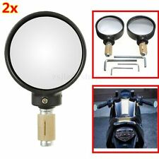 7/8'' 22mm Bar End Rear View Mirrors Universal Motorcycle Bike For Honda Harley