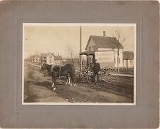 """EARLY HORSE & WAGON DELIVERY ~ """"E. C. HOOKER MEATS"""" ~ c. - 1900"""