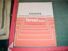 1987 TOYOTA TERCEL SEDAN EL31 SERIES COLLISION BODY SERVICE MANUAL