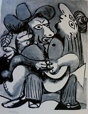 PABLO PICASSO the couple plate signed HAND NUMBERD 505/2000 LITHOGRAPH gouache