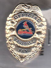 ST. LOUIS CARDINALS OFFICIAL BASEBALL FAN BADGE PIN