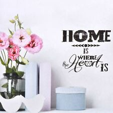 PVC Spruch Wandtattoo Room Decor Sticker Deko,Wallpaper,Design Home is where the