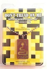 "GI JEWELRY, Official US Military DON""T TREAD ON ME,  Necklace Non-Reactive Steel"