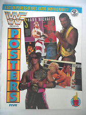 WWE / WWF POSTERS MAGAZINE VOL 5 BRET HART/ RAZOR/ SHAWN MICHAELS /MR PERFECT L1