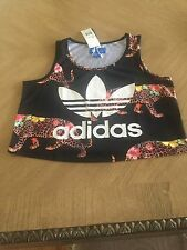 Adidas Original ONCADA  Leopard  Print WOMEN Crop TANK TOP NEW WITH Tags Small