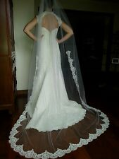 Priscilla of Boston Vineyard Collection Nora Wedding Gown and Veil Size 0