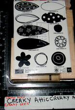 STAMPIN UP PICK A PETAL 11 RUBBER STAMPS MAKE YOUR OWN FLOWER