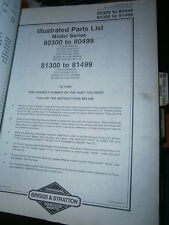 Briggs & Stratton moteur 23C : parts list