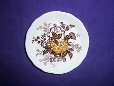 "brown transferware MASON'S  ASCOT England BUTTER PAT 3"" Patent Ironstone floral"