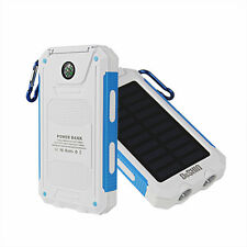 50000mah Solar Panel Power Bank 2USB 2LED External Battery Charger For iPhone