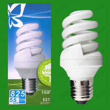 4x 15W Daylight SAD Low Energy CFL 6500K White Light Spiral Bulbs ES E27 Lamps
